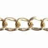 Aluminum Chain 25x19.8mm Gold Cut Link 10m/spool